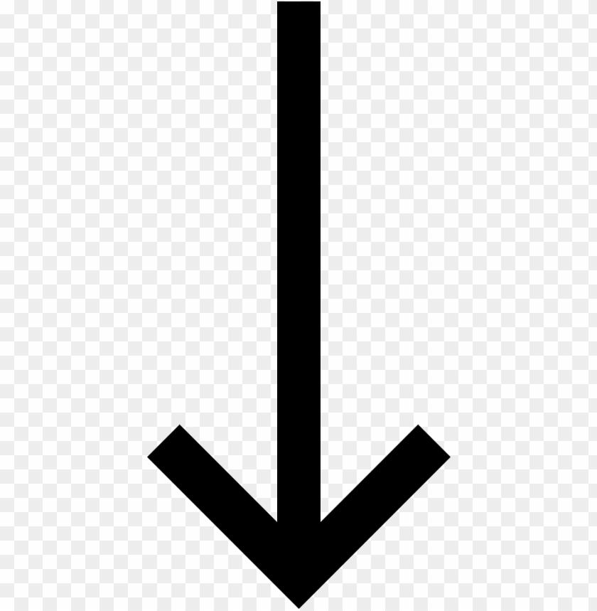 long arrow down.