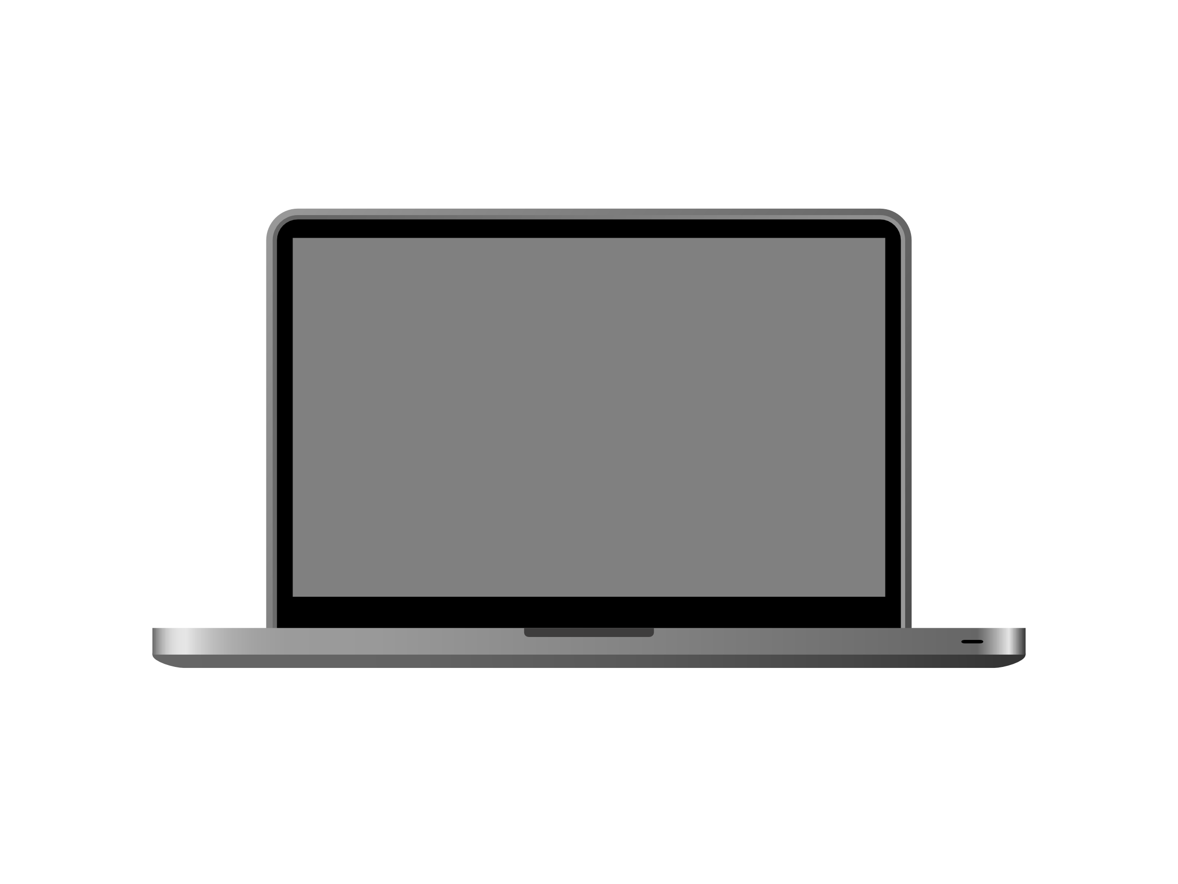 Mac Laptop Clipart.