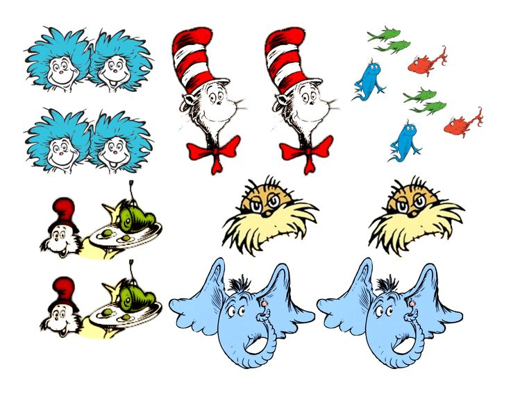 Dr Seuss Characters Clip Art N10 free image.