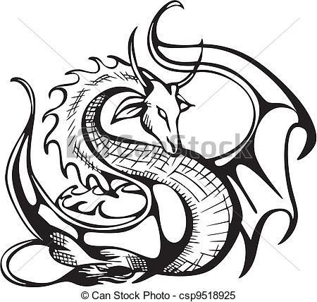 Dragon clipart Clipart Dragon Black And White.