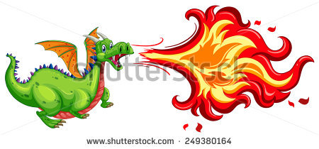 Fire Dragon Stock Images, Royalty.