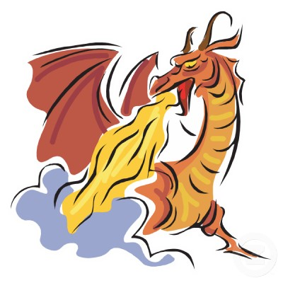 Dragon With Fire Clipart.