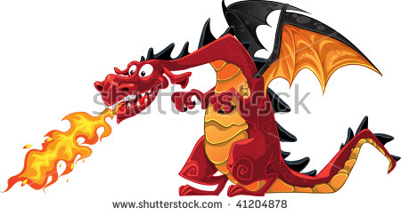 Cartoon Dragon Stock Images, Royalty.