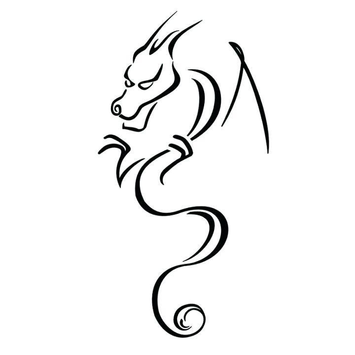 outline dragon.