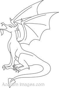 Dragon Clipart Outline.