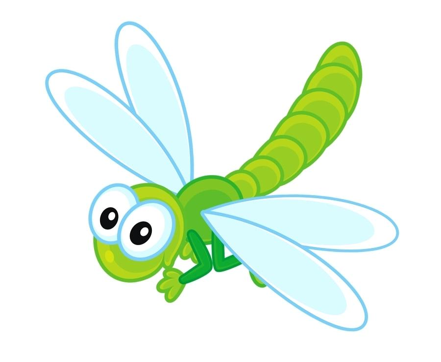 Cute Dragonfly Drawing.