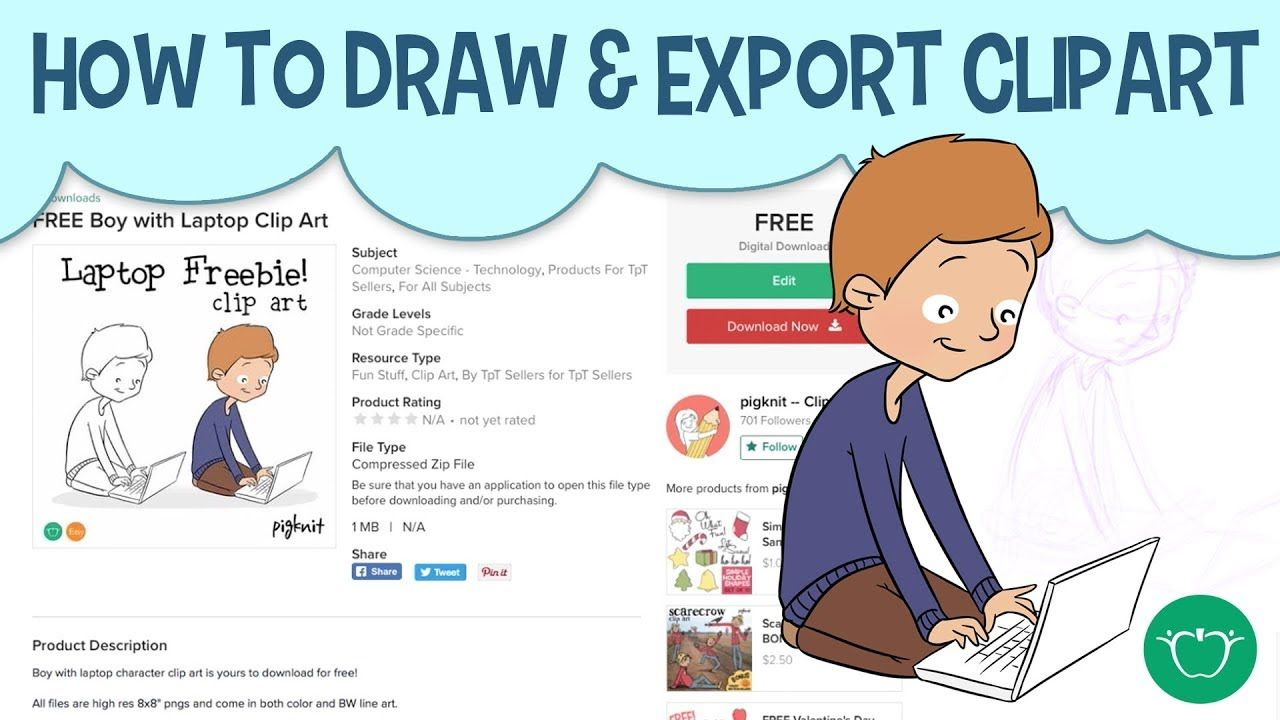 How to Draw and Export Clip Art to Sell Online.