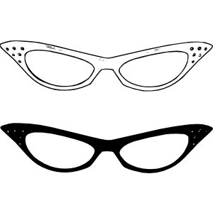 glasses and eyes clipart.