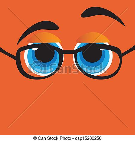 clipart drawing of glasses with eyes #7