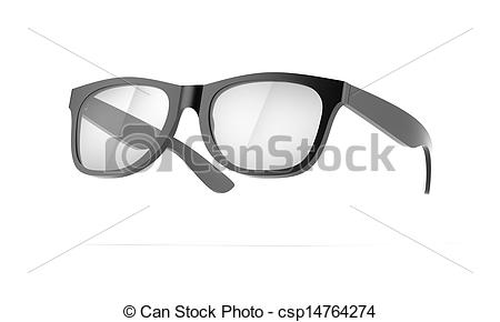 Stock Illustrations of Black Eye Glasses isolated on a white.