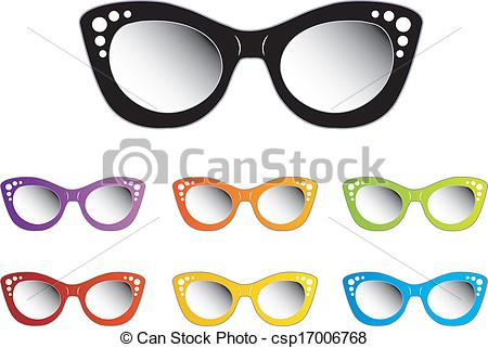 clipart drawing of glasses with eyes #5