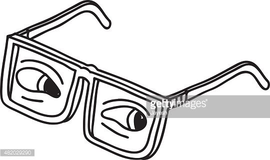 clipart drawing of glasses with eyes #3