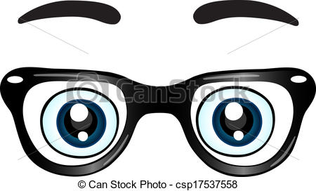 clipart drawing of glasses with eyes #19