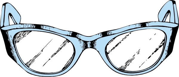 Eye Glasses clip art Free vector in Open office drawing svg ( .svg.