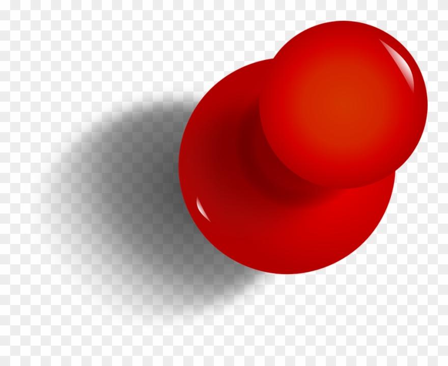 Drawing Pin, Tack, Thumbtack, Red, Office, Pushpin.