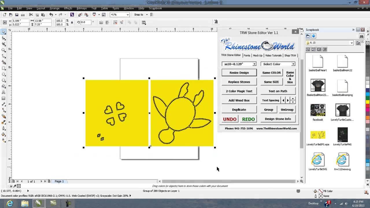 Cool Corel Draw X5 X6 Clipart Docker for the TRW Stone Wizard Rhinestone  Program.
