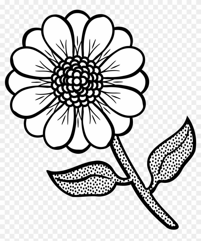 Wildflowers Drawing Coloring Pages.