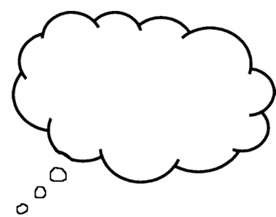 Download THOUGHT BUBBLE Free PNG transparent image and clipart.