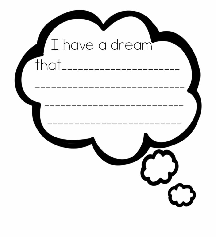 I Have A Dream Bubble Clipart.