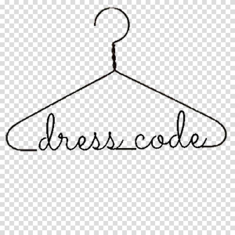 Black clothes hanger theme dress code poster, Dress code.