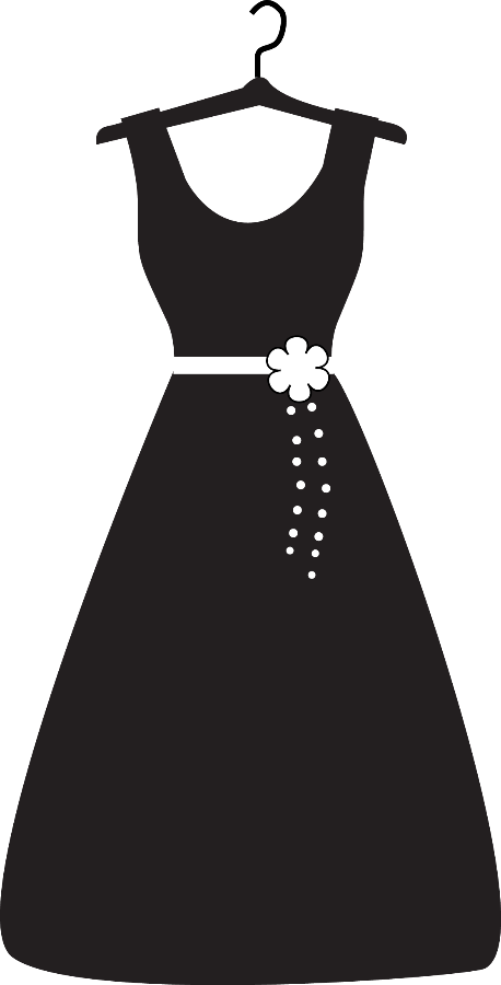 HD Dress Silhouette Png.