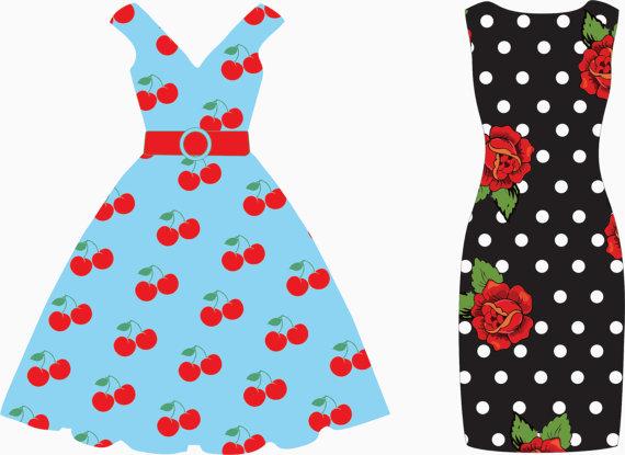 Tea party dress clip art tea dresses bunting.