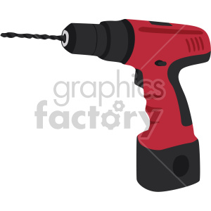 cordless drill no background clipart. Royalty.
