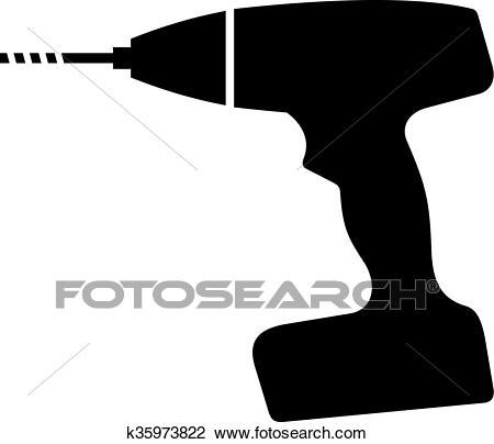 Cordless drill Clipart.