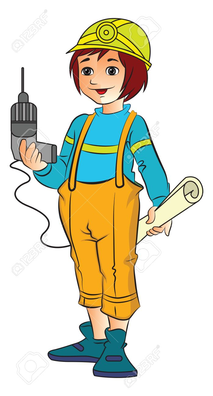725 Construction Worker free clipart.