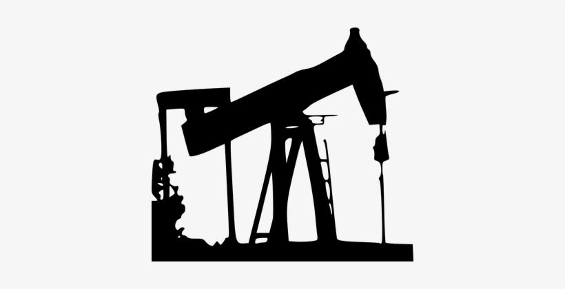 Drilling Oil Rig Pump Petroleum Silhouette.