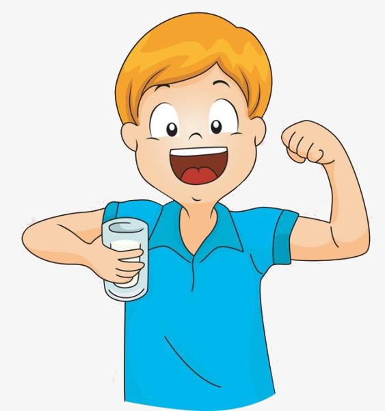 Boy Drinking Milk Clipart.