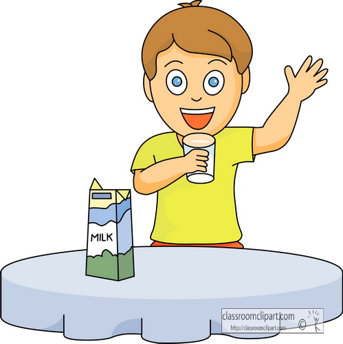 Drinking Milk Clipart.