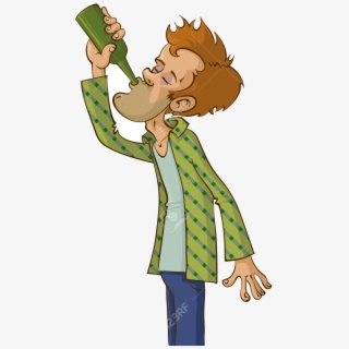 Alcohol Alcoholic Man Vector Clipart Image Free Stock.