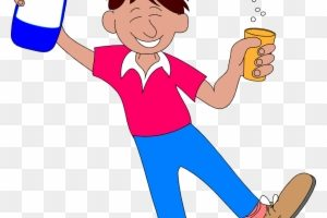 Man drinking alcohol » Clipart Station.