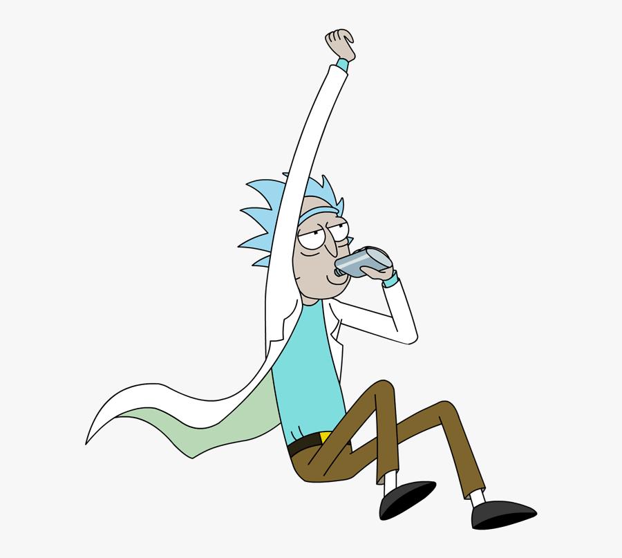 Rick Jumping And Drinking Alcohol.