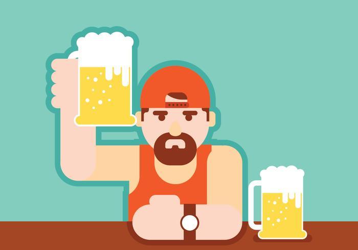 Guys Drinking Beer.