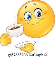 Drinking Coffee Clip Art.