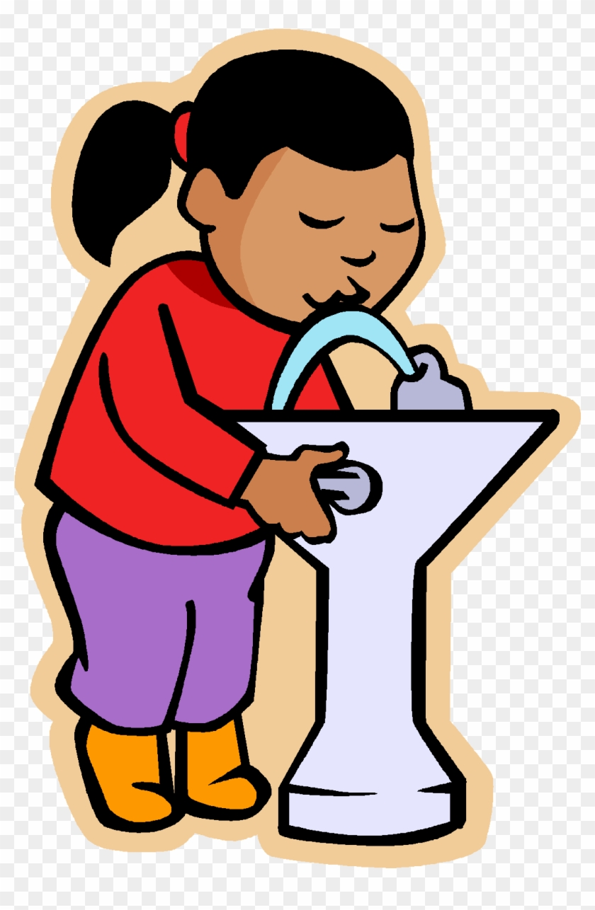 Kid Drinking Water Clipart.