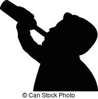 Drinking Wine Clipart.