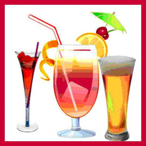 Drinking Alcohol Party Clipart.
