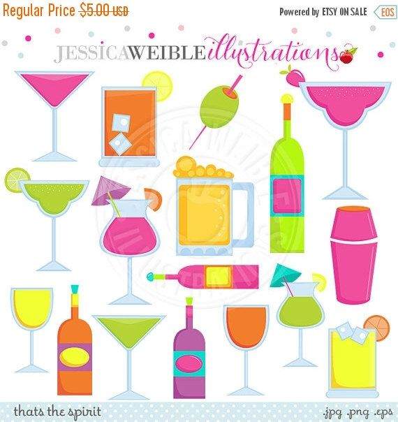 Thats the Spirit Clipart, Cocktail Drink Clip Art, Margarita.