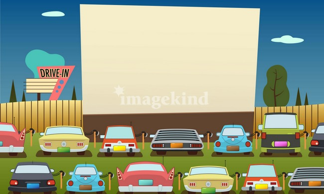 Drive In Theater Clipart.