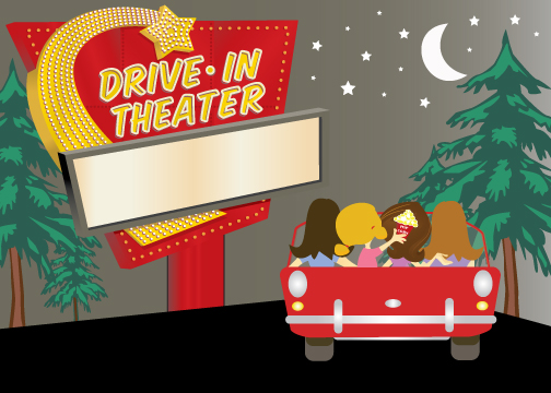 Drive In Movie Screen Clipart Drive In Movie Birthday Party.