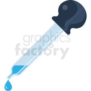 eye dropper vector flat icon clipart with no background . Royalty.