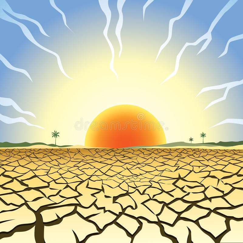 Drought Stock Illustrations.