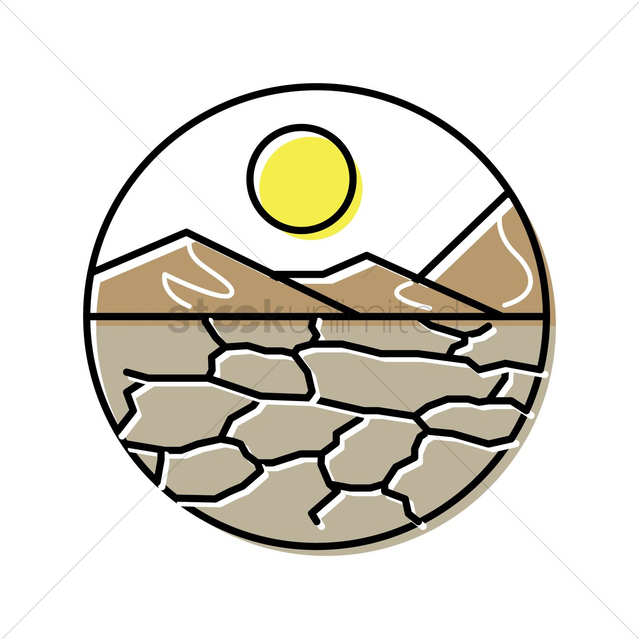 Drought Vector Image.