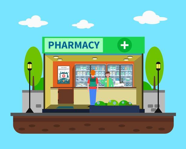 Pharmacy Concept Illustration.