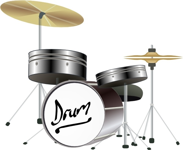 Drum Kit clip art Free vector in Open office drawing svg.