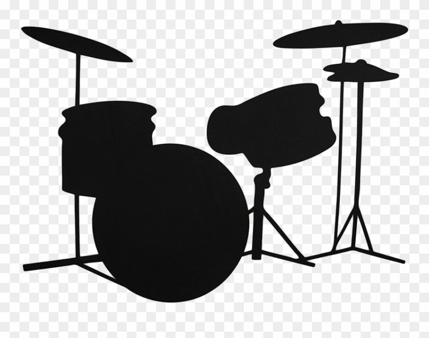 Silhouette Clipart Drum.