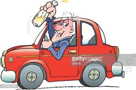 Drunk Driver premium clipart.